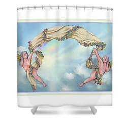 Rainbow Angels Shower Curtain