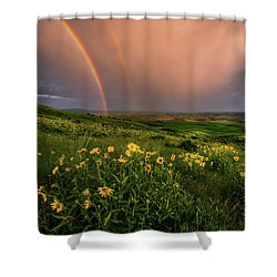Rainbow At Steptoe Butte Shower Curtain