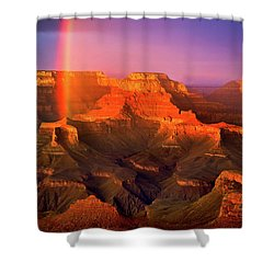 Rainbow At The Grand Canyon Shower Curtain