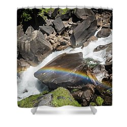 Rainbow At Vernal Falls- Shower Curtain