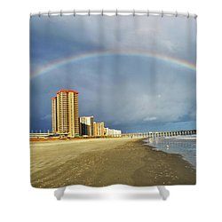 Shower Curtain featuring the photograph Rainbow Beach by Kelly Reber