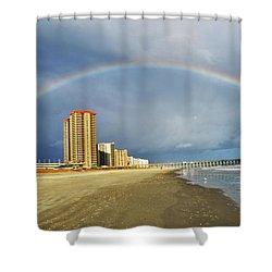 Rainbow Beach Shower Curtain