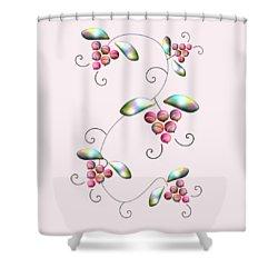 Rainbow Berries Shower Curtain by Anastasiya Malakhova