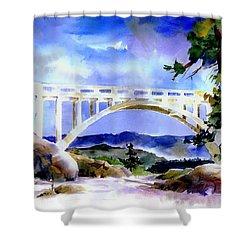 Rainbow Bridge Above Donnerlk#2 Shower Curtain