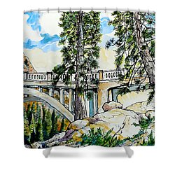 Rainbow Bridge At Donner Summit Shower Curtain