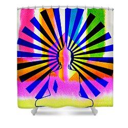 Rainbow Buddha Shower Curtain