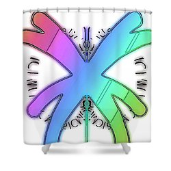 Rainbow Bug Shower Curtain