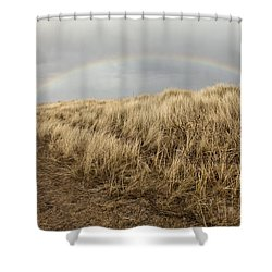 Rainbow By The Seaside Shower Curtain by Mike Santis