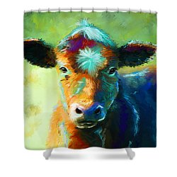 Rainbow Calf Shower Curtain