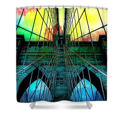 Rainbow Ceiling  Shower Curtain by Az Jackson
