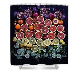 Rainbow Citrus Etc Shower Curtain