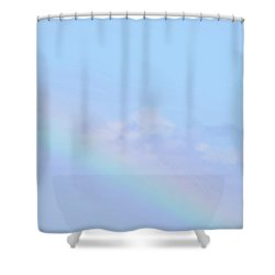 Shower Curtain featuring the digital art Rainbow Clouds And Sky by Francesca Mackenney