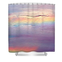 Rainbow Clouds.  Wip Shower Curtain
