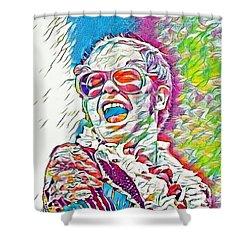 Rainbow Colors Elton John Shower Curtain