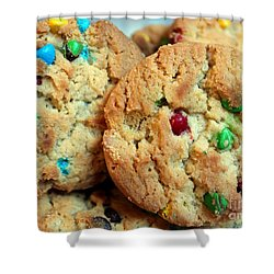 Rainbow Cookies Shower Curtain by Barbara Griffin