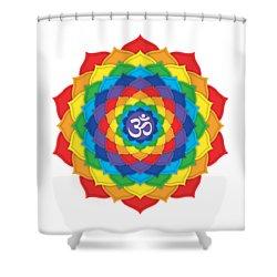 Rainbow - Crown Chakra  Shower Curtain by David Weingaertner