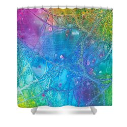 Rainbow Shower Curtain by Artists With Autism Inc