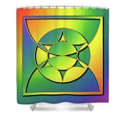 Shower Curtain featuring the digital art Rainbow Design 3 by Chuck Staley