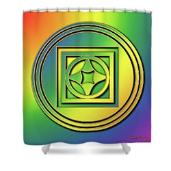 Shower Curtain featuring the digital art Rainbow Design 4 by Chuck Staley