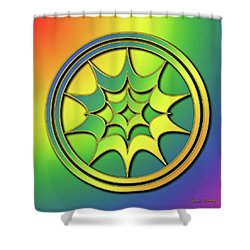 Shower Curtain featuring the digital art Rainbow Design 5 by Chuck Staley