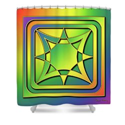 Shower Curtain featuring the digital art Rainbow Design 6 by Chuck Staley