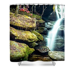 Shower Curtain featuring the photograph Rainbow Falls At Dismals Canyon by David Morefield