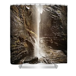 Rainbow Falls Of Jones Gap Shower Curtain by Kelly Hazel