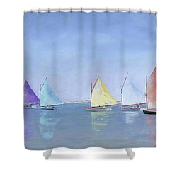 Rainbow Fleet Shower Curtain
