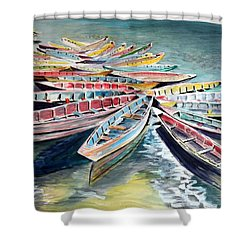 Rainbow Flotilla Shower Curtain