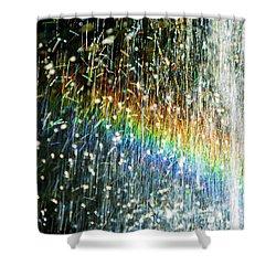Rainbow Fountain Shower Curtain by Francesa Miller