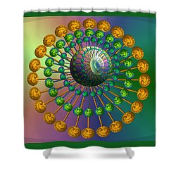 Rainbow Fractal Shower Curtain