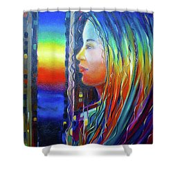 Rainbow Girl 241008 Shower Curtain