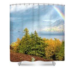 Rainbow Gold Shower Curtain
