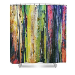 Shower Curtain featuring the photograph Rainbow Grove by Ryan Manuel