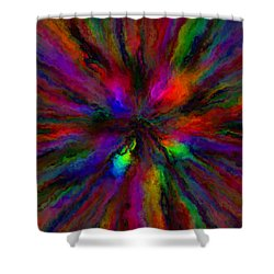 Rainbow Grunge Abstract Shower Curtain