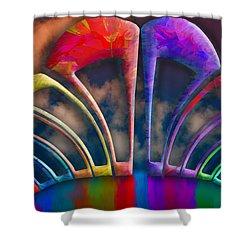 Rainbow Hill Shower Curtain