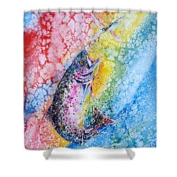 Rainbow Hunter Shower Curtain by Zaira Dzhaubaeva