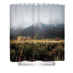 Rainbow In Eastern Sierra Nevadas Shower Curtain