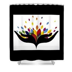 Rainbow Leaves Shower Curtain