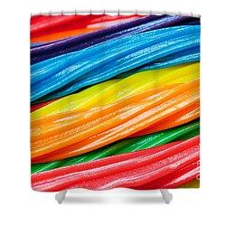 Rainbow Licorice Shower Curtain