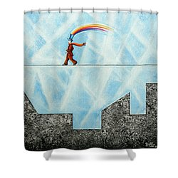 Rainbow Man Shower Curtain