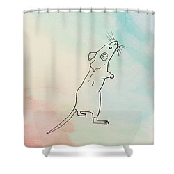 Rainbow Mouse Shower Curtain