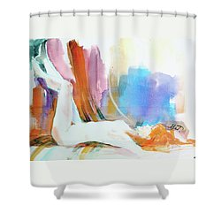 Rainbow Nude Shower Curtain