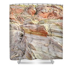 Rainbow Of Color At Valley Of Fire Shower Curtain