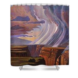 Rainbow Of Rain Shower Curtain by Art James West