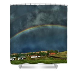 Rainbow Over Cripple Creek Shower Curtain
