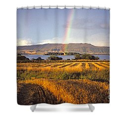 Shower Curtain featuring the photograph Rainbow Over Loch Leven  by Phil Banks