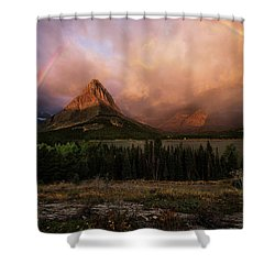 Rainbow Over Mt Gould Shower Curtain