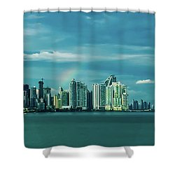 Rainbow Over Panama City Shower Curtain