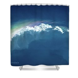 Rainbow Peeking Shower Curtain
